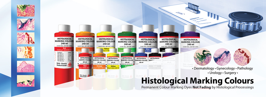 Histological marking colours
